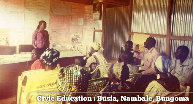 Civic Education: Busia, Bungoma, Nambale
