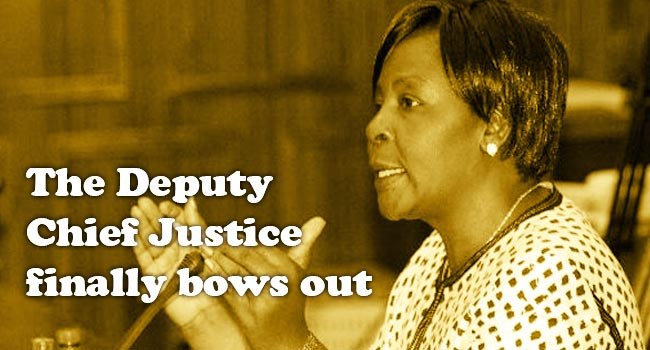 The Deputy Chief Justice Finally Bows Out