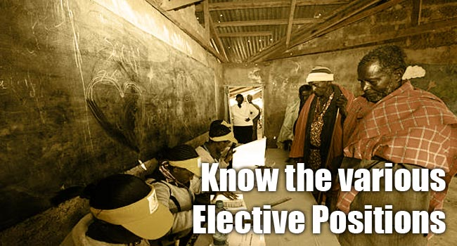 Know the Elective Positions