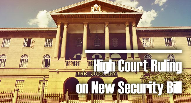 High Court Rules on New Security Bill