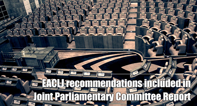 EACLJ Recommendations Included In Joint Parliamentary Report On The IEBC