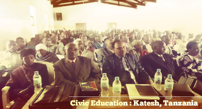 Civic Education, Katesh Tanzania