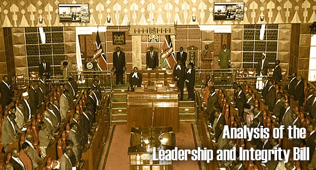 Analysis of the Leadership and Integrity Bill