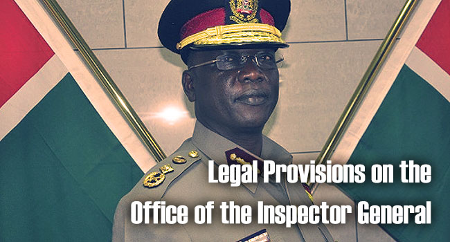 Legal Provisions on the Office of the Inspector General